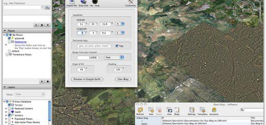 Image of Google Earth geo-blogging tool kit